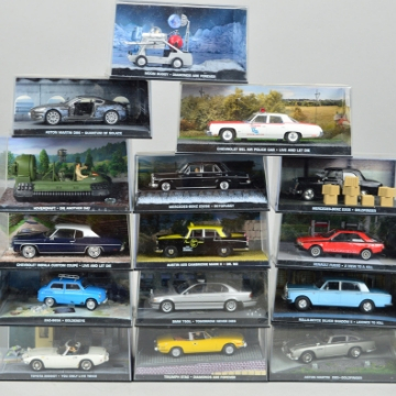 James Bond 007 model car collection