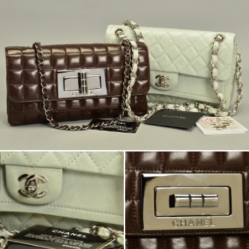 Designer duo of iconic Chanel bags