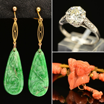 Top treasures in jewellery auction