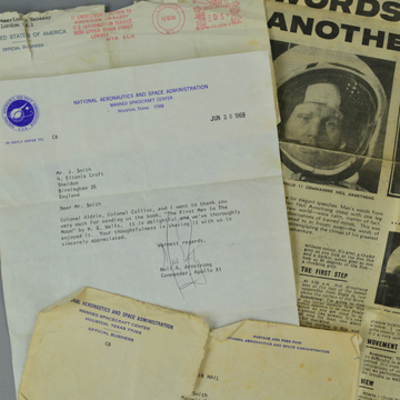 Chance to buy signed letter from Neil Armstrong