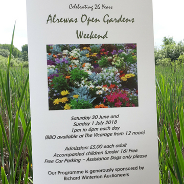 Alrewas Open Gardens Weekend sponsorship