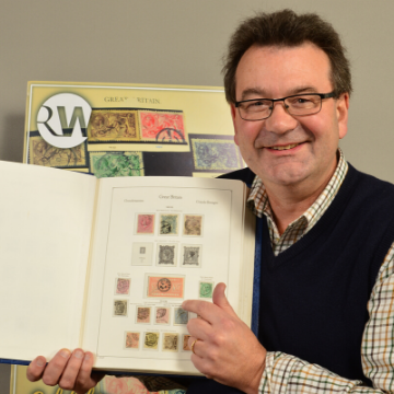 1882 £5 Orange in stamp auction
