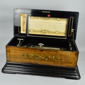 What tunes played on late 19th century Swiss musical box?
