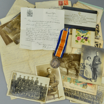 Poignant letters from drowned soldier torpedoed in WW1 come to auction