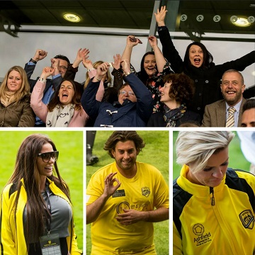 Celebrity football with Kerry Katona, Katie Price, Calum Best, James Argent, Shayne Ward, Jay Hutton and more