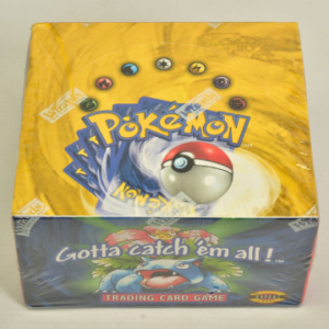 This unopened Pokémon booster box still sealed in its Wizards Of The Coast branded cellophane sold for £16,000.