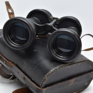 Lot 210: A pair of WW2 era German Kriegsmarine binoculars in a matching, fully-stamped black leather carry case.