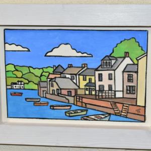 Lot 665: A coastal study of Fowey by Tim Treagust, acrylic on board.
