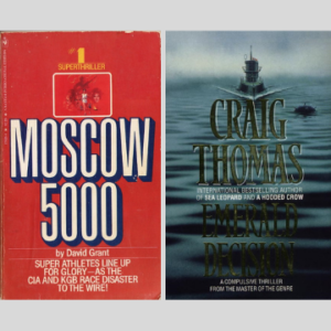 Mr Thomas wrote two novels as David Grant – 1979's Moscow 5000, which has not been reprinted since it was published in paperback the following year, and Emerald Decision (1980), which was later revised and reprinted under his usual name. Images courtesy www.craigthomascompanion.co.uk