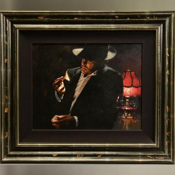 Fabian Perez Man Lighting A Cigarette II sold £3,600