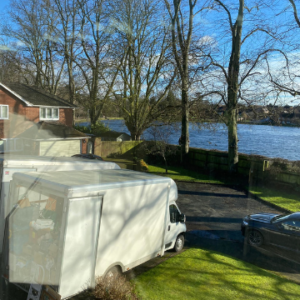 A house clearance at a property overlooking Lichfield's Stowe Pool.