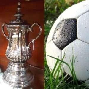 A Portmeirion ceramic replica of the FA Cup.