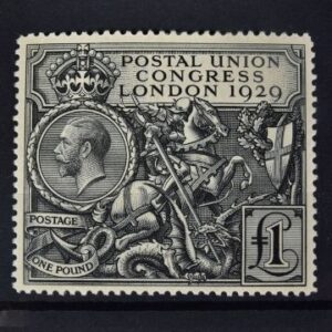 Stamps & Postal History Sale Thursday May 13 2021 The intricately designed 1929 £1 stamp was sufficient to cover the cost of airmail. This example is in mint condition.