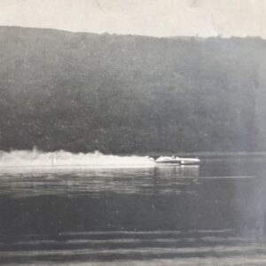 Sir Malcolm Campbell in the Blue Bird K4 on Coniston Water, August 19 1939.
