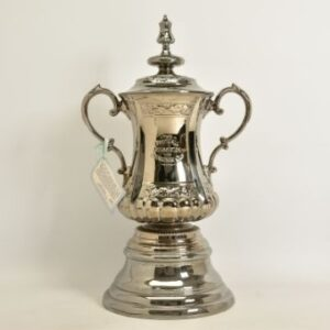 A Portmeirion ceramic replica of the FA Cup, modelled on the 1911 trophy designed by Fattorini and Sons.