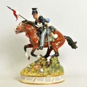 Lot 640 is a 43cm tall Royal Doulton Prestige figure 'The Charge Of The Light Brigade' HN3718, designed and modelled by Alan Maslankowski and estimated at £800-£1,200. July 5 2021.