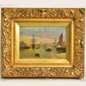 Lot 549: 'Grand Canal, Venice' by Antonietta Brandeis.