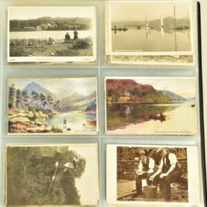 A page from the Cumbria At Play postcard album, which sold for £1,600.
