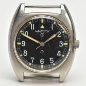 Monday 5th July 2021 Lot 131: A Hamilton military issue wristwatch (est. £220-£280).