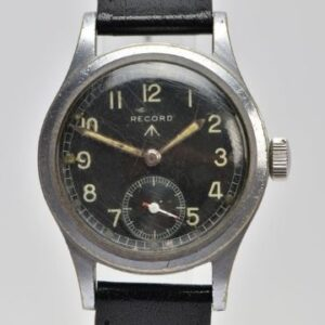 Monday 5th July 2021 This Record 'Dirty Dozen' military wristwatch is a good example of the strict specifications laid out by the British MoD in World War Two.