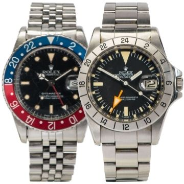 Rolex Explorer II 1655 and GMT-Master among luxury watches at auction in Lichfield