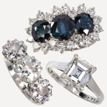 Diamond and sapphire rings sparkle in Lichfield jewellery auction
