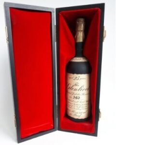A numbered limited edition of The Glenlivet, a 25 year old single malt whisky released in 1977 to mark the Queen's Silver Jubilee.