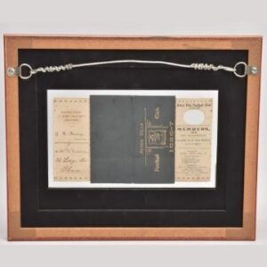 125-year-old Aston Villa member's card for the 1896-1897 season goes under the hammer with Richard Winterton Auctioneers live from The Lichfield Auction Centre on Monday, September 20, starting at 9.30am.