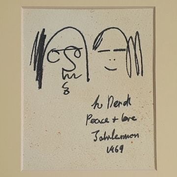 Owner Frank Massie said his Uncle Derek was given the sketch personally by John Lennon when the Beatle visited Durness in Scotland in 1969.