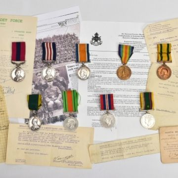 'Exceptional' World War One double gallantry medals group at Tamworth auction